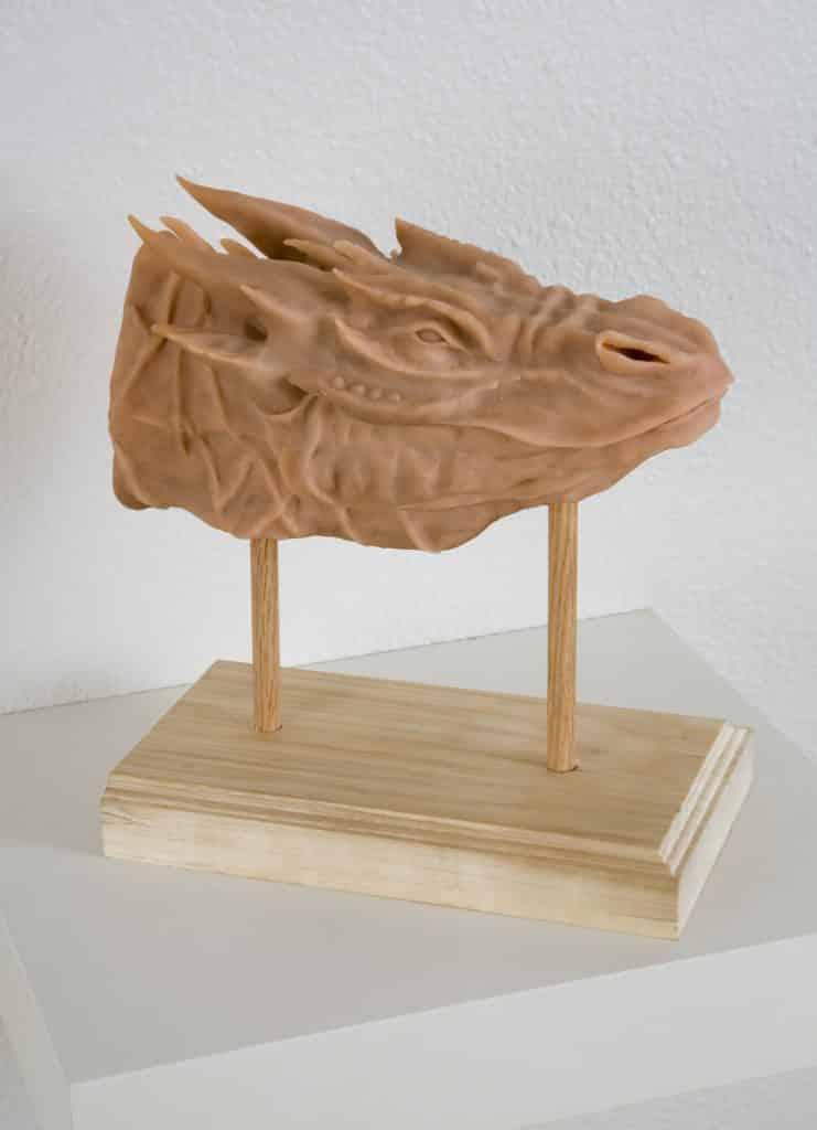 A model of a dragon head