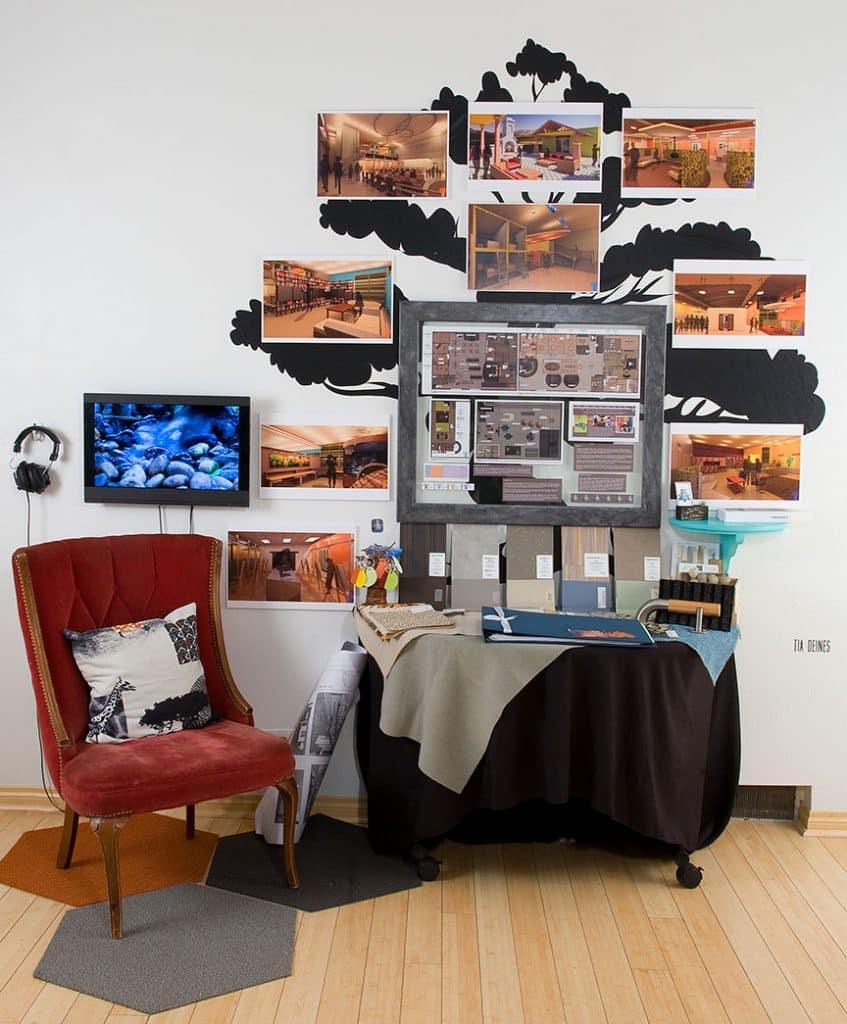 Interior design installation