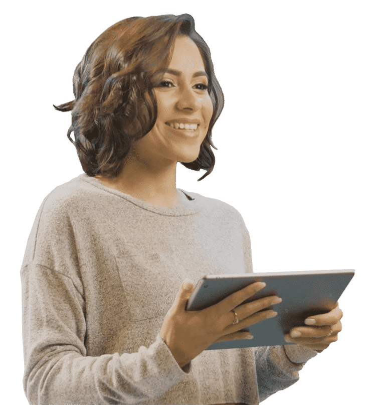 Young woman with a tablet